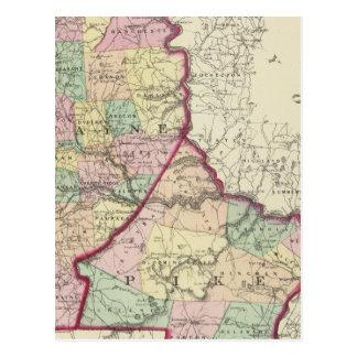 Wayne, Pike counties Postcard