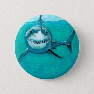 """Wayne"" The Great White Shark Button"