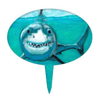 """""""Wayne"""" The Great White Shark Cake Topper"""
