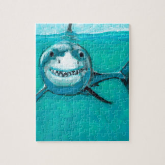 """Wayne"" The Great White Shark Jigsaw Puzzle"