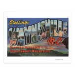 Waynesville, Carolina del Norte - escena grande de Postales
