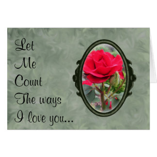 Ways I Love You Imitators of Christ Red Rose Greeting Card