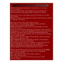 Ways to Be an Upstander Poster