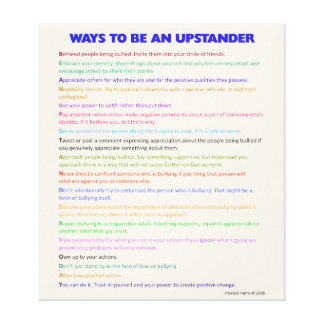 Ways to Be an Upstander Wrapped Canvas