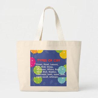 Ways to Cry Jumbo Tote Bag