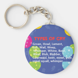 Ways to Cry Keychain