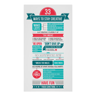 ways to stay creative poster