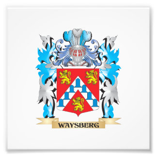 Waysberg Coat of Arms - Family Crest Photograph
