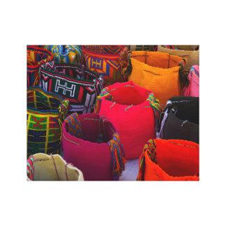 Wayuu mochilas bags for sale in Colombia Canvas Print