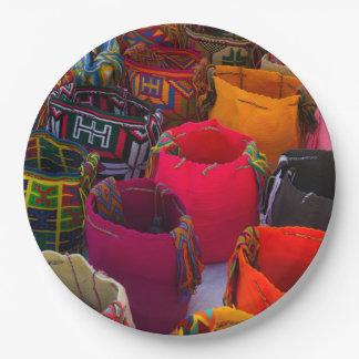 Wayuu mochilas bags for sale in Colombia Paper Plate