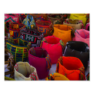 Wayuu mochilas bags for sale in Colombia Poster