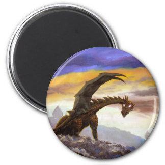 Wayward Wyvern 2 Inch Round Magnet
