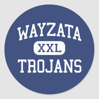 Wayzata - Trojans - High - Minneapolis Minnesota Classic Round Sticker