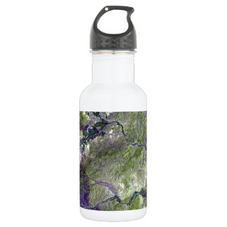 Waziristan Hills Satellite Image Water Bottle