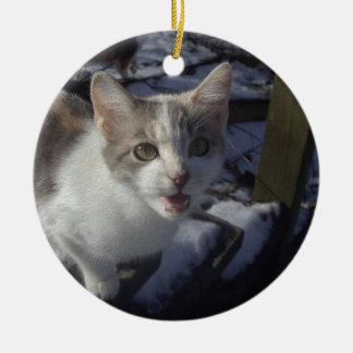 Wazzap? Double-Sided Ceramic Round Christmas Ornament