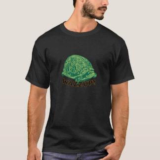 Wazzup - Black Men's Basic Dark T-Shirt