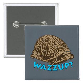 Wazzup - botón cuadrado de 2 pulgadas pin cuadrado