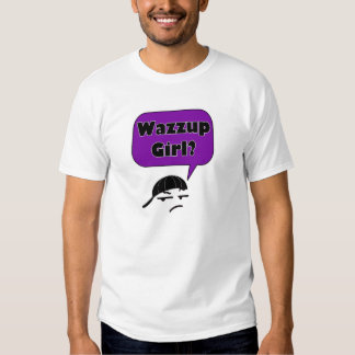 Wazzup Girl Saying in Purple Mens T-shirt