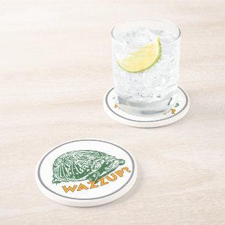 Wazzup - Turtle Sandstone Drink Coaster