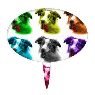wb australiano del arte pop del perro de pastor figura para tarta