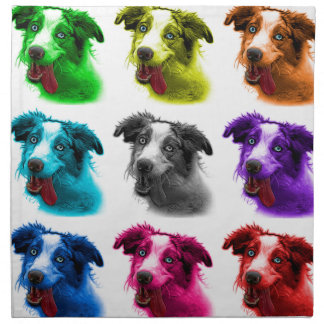 wb australiano del arte pop del perro de pastor servilleta de papel