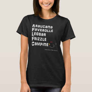 WB de Araucana de la camiseta de la raza del pollo