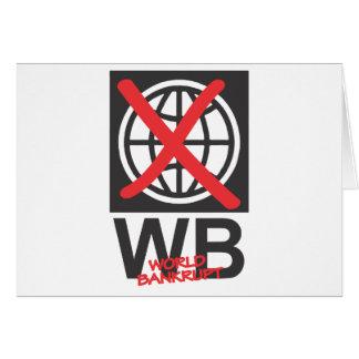WB  World Bankrupt Card