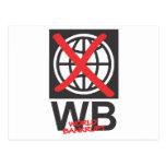 WB  World Bankrupt Post Card