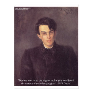 """WB Yeats """"Pilgrim Soul"""" Love Quote Gifts & Cards"""