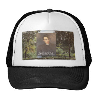 "WB Yeats ""Strike Hot Iron"" Quote Tees Gifts Etc Mesh Hat"