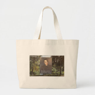 """WB Yeats """"Strike Hot Iron"""" Quote Tees Gifts Etc Large Tote Bag"""