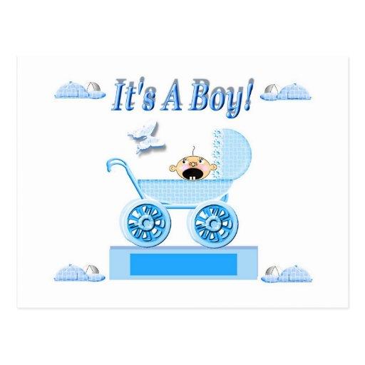 WBaby Buggy-boy Postcard