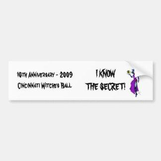 WBlogoWitch, 10th Anniversary - 2009Cincinnati ... Bumper Sticker
