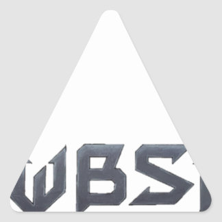 WBSI [What did the Brit Say to the Indian] gear Triangle Sticker