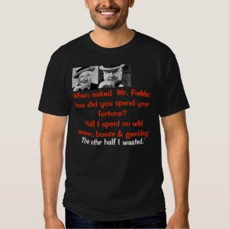 wc fields tee shirt