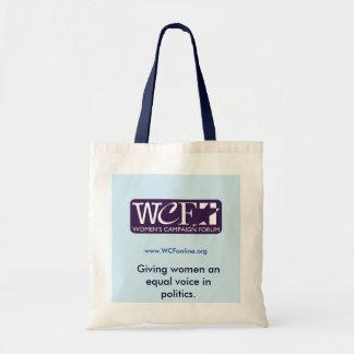 WCF equal voice tote