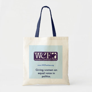 WCF equal voice tote Tote Bags