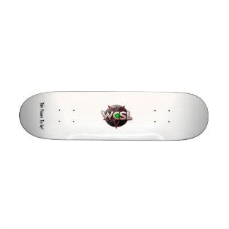 WCSL Green Orb logo skateboard