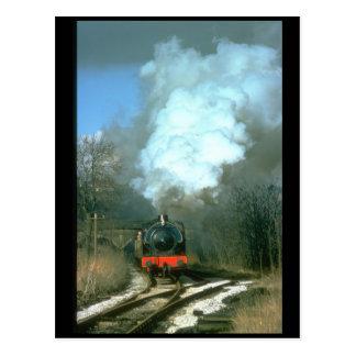 WD 0-6-0 Fred deja los trenes de Haworth_Steam Tarjeta Postal