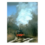WD 0-6-0 Fred leaves Haworth in the Worth Valley Postcard