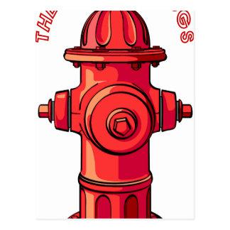 WD Hydrant Postcard
