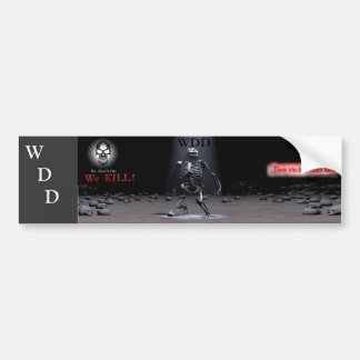 WDD bumper sticker