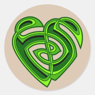 Wde Heartknot Round Sticker