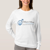 WDF Womens Fitted Long Sleeve (White) T-Shirt