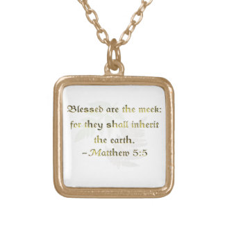 WDJS: Blessed Are the Meek Square Pendant Necklace