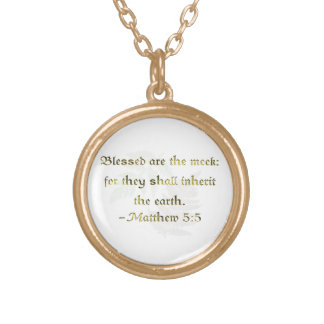 WDJS: Blessed Are the Meek Round Pendant Necklace