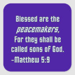 WDJS: Blessed Are the Peacemakers Stickers