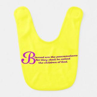 WDJS: Blessed es los pacificadores Baberos Para Bebé