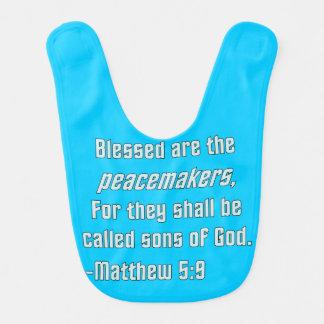 WDJS: Blessed es los pacificadores Baberos De Bebé