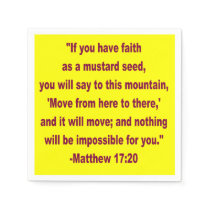 WDJS: Faith as a Mustard Seed Napkin
